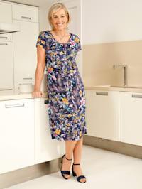 Jerseykleid in floralem Druckdessin