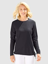 Sweatshirt med knytband i nederkant