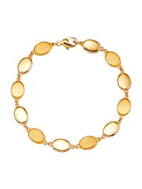 Armband med platta, ovala detaljer