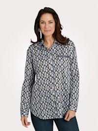 Košilová halenka z čisté bavlny