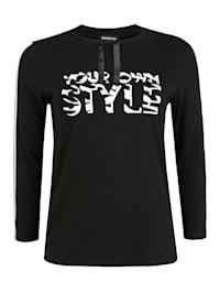 Shirt mit Print Glitzereffekt