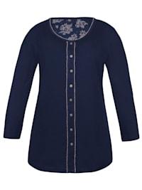 Damen Langarm Shirt Winter Blue