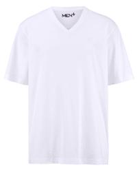 Shirt met V-hals van zuiver katoen