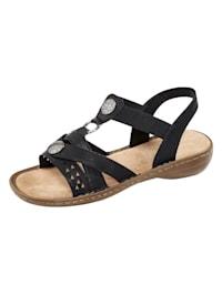 Sandaaltje met fraaie metalen applicatie