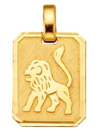 Pendentif avec signe du zodiaque Lion