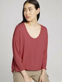 3/4 Arm Shirt mit Struktur