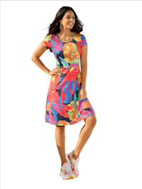 Kleid mit abstraktem Floral Print