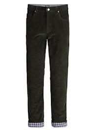 Pantalon thermorégulateur en velours côtelé et doublure bien chaude