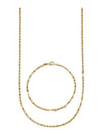 2-delige sieradenset van 14 kt. goud