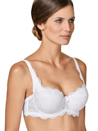 Bra with underwire and removable padding