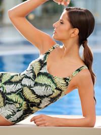 Badeanzug mit Logozierteil