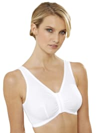 Bra made from a cotton-rich fabric