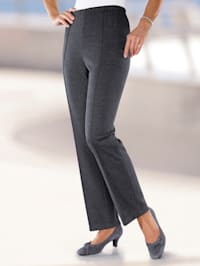 Pantalon jersey à plis permanents flatteurs