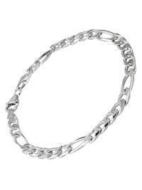 Silber Herren Armband Figaro Breite 5,3 mm