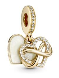 Charm-Anhänger -Funkelndes Unendlichkeits Herz- 14K Gold 759516C01