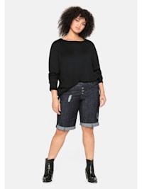 Jeans-Bermudas mit Stretch-Anteil
