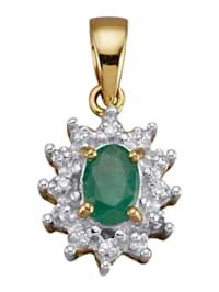 Hanger met smaragd