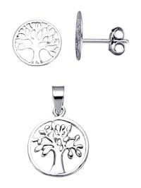 2-delige sieradenset van echt zilver
