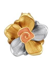 Pendentif fleur Créoles en or 585