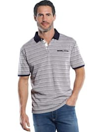 Sportives Poloshirt mit hochwertigen Strukturstreifen