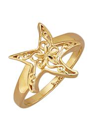 Damenring Seestern - diamantiert