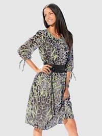 Kleid im allover-Druck