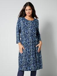 Jersey-Kleid mit Gummizug an der Taille