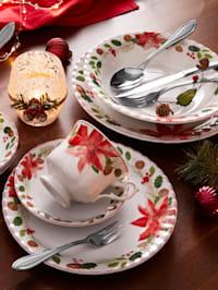 18-delig koffieservies Kerstster