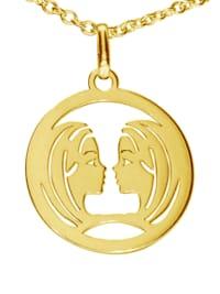 Stern Anhänger 925 Silber vergoldet