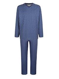 Pyjama van gemerceriseerd katoen