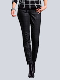 Jeans met ruitdessin