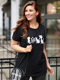 Shirt mit Paillettenmotiv