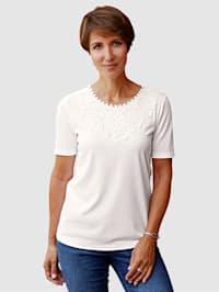 Tričko s dekorativní krajkou na výstřihu