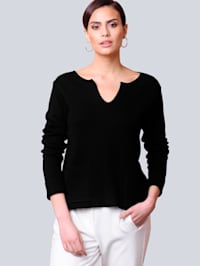 Pull-over Avec manches à revers fixe