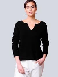 Pullover mit fixiertem Aufschlag am Arm