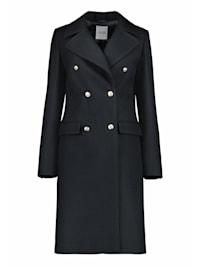Mantel mit Schmuckknöpfen
