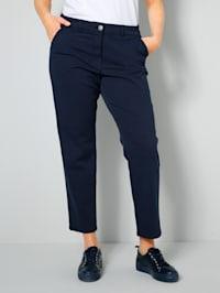 Pantalon chino avec fausses poches au dos