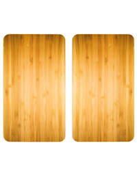 2er-Set Herdabdeckplatten 'Holz-Optik'