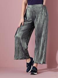 Pantalon plissé à effet allongeant