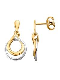 Ohrringe in Gelb- und Weißgold 585