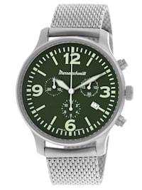 Herren-Fliegeruhr Chronograph mit Milanaise-Armband