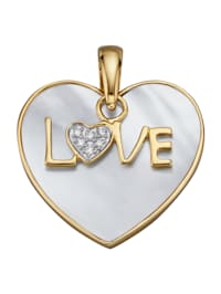 Hänge – hjärta av pärlemor