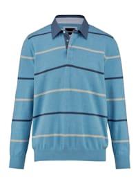 Pulovr s výjimečným košilovým límcem
