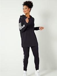 Sweatshirt mit Mesh-Einsatz im Schulterbereich