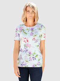 Tričko s peknou kvetinovou potlačou