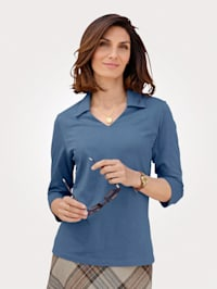 Polo shirt in a mélange fabric