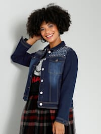 Veste en jean avec rivets mode