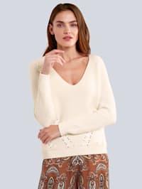 Pullover mit Satinb?ndchen im Vorderteil