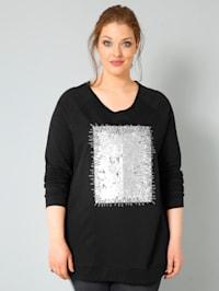 Sweatshirt met keerbare pailletten