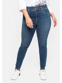 Jeans mit Bodyforming-Effekt und High-Waist-Bund